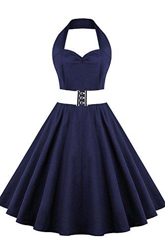 Babyonline Damen Kleid Elegant 50er Jahre Retro Polka Dots ...