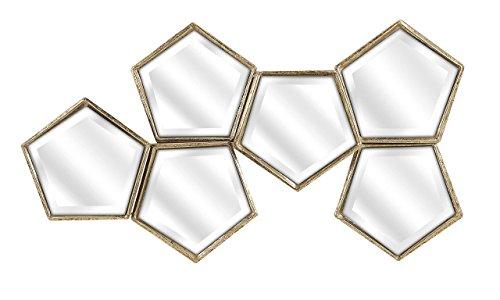 784185834567 - IMAX 83456 Arlene Mirror Wall Decor, Gold carousel main 0