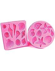Silicone Fondant Cake Molds, IHUIXINHE Non-Stick Chocolate, Jelly, Candy Mold, Cupcake Decoration Tool