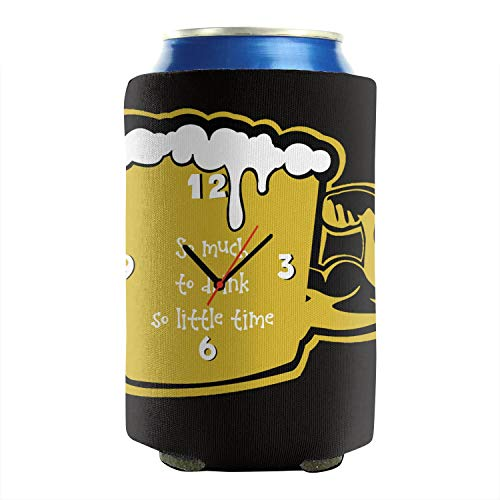 Iconic Muscle Tee - DAWUSU2X Funny Beer Muscle Mug with Clock Insulated Beverage Beer Can Sleeves Pack of 2 Plain Fun Non-Slip Foldable Can Cooler Sleeves Barbecue