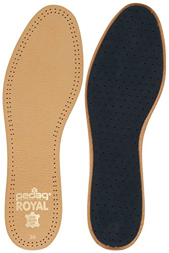 Pedag 102 Royal Vegetable Tanned Sheepskin Insole with Natural Active Carbon Filter, Slightly Padded with Latex Foam, Tan Leather, Women's 8