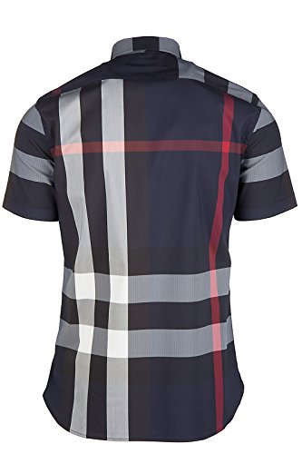 Burberry chemise à manches courtes homme thornaby blu EU XL (UK 42) 4045842