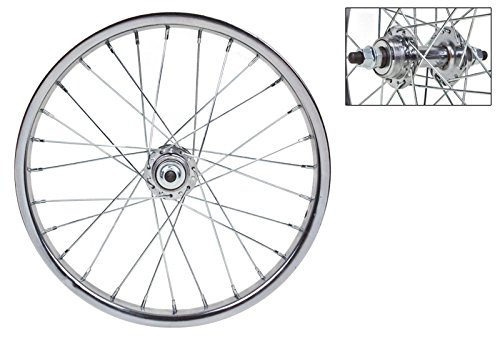 WheelMaster 16 x 1.75 Rear Wheel, 28H, Steel, Bolt On, FW, Silver ()