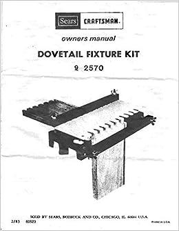 craftsman dovetail jig manual