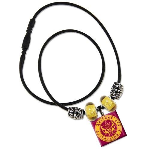WinCraft NCAA Arizona State University 88752013 Lifetile Necklace with Beads
