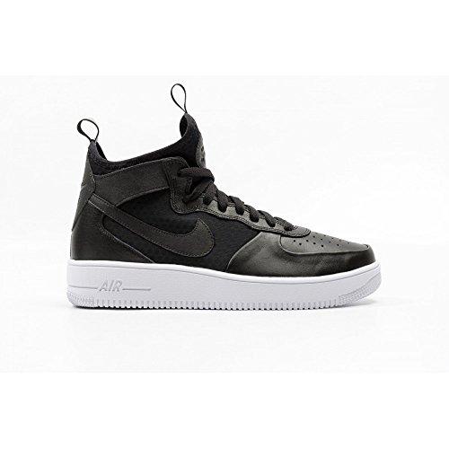 Nike Men's Air Force 1 Ultraforce Mid, BLACK/BLACK-WHITE, 7.5 M US