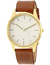 UNIFORM WARES C36 Swiss Quartz Stainless Steel and Brown Leather Watch