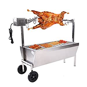 Ridgeyard Spit Roaster Rotisserie Pig Lamb Roast Goat,Chicken BBQ Spit Roaster Portable Picnic Outdoor Cooker Grill