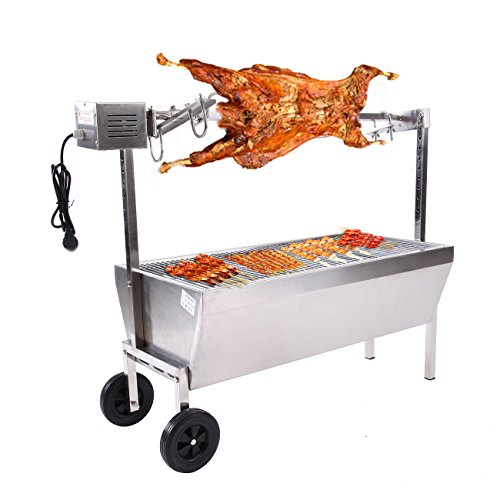 Ridgeyard Spit Roaster Rotisserie Pig Lamb Roast Goat,Chicken BBQ Spit Roaster Portable Picnic Outdoor Cooker Grill -