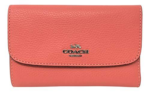 Coach Pebble Medium Envelope Wallet Coral