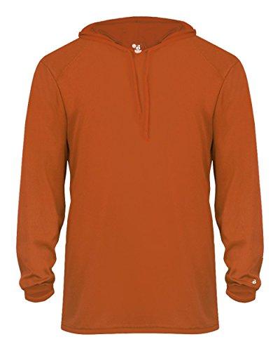 Adult Burnt Orange Long Sleeve B-Core XL Performance Sports Hoodie Wicking T-Shirt