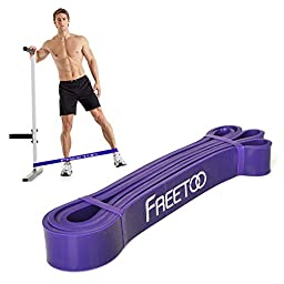 FREETOO Workout Pull-Up Band Resistance Rubber Bands for Powerlifting and Exercise