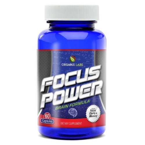 Brain Supplement from FOCUSPower® Helps Unleash the True Power of Your Mind – Improve Concentration, Focus, Memory, Clarity & More – All Natural Advanced Formula – Won't Give You the 'Jitters' – Made in the USA – Money-back Guarantee