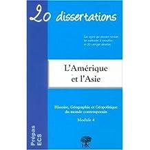 l'amerique et l'asie (20 dissertations)