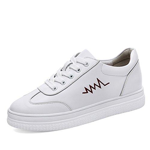Zapatillas de Deporte de Las Mujeres Zapatos Casuales, Primavera, Verano, Zapatillas de Deporte de otoño Zapatos de Deporte (Color : Blanco, tamaño : 37)