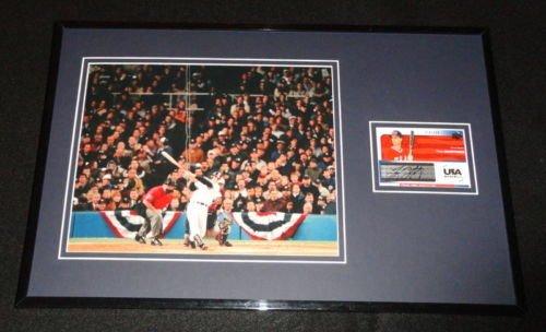 (Tino Martinez Signed Framed 11x17 Photo Display UDA Yankees World Series)