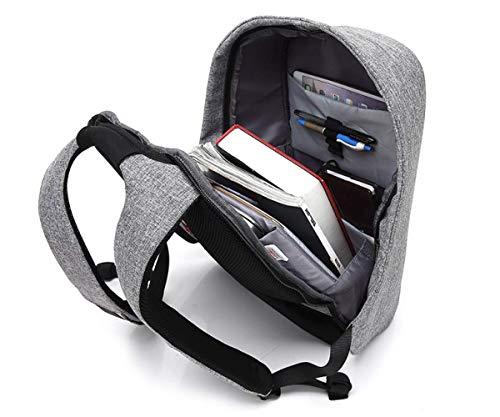 Resistente Agua Libre Grey Trekking Luminosas Handbag Al Mochila Antirrobo Tiras Aire IYnaR