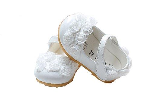 Cinda Baby- Blumen-Schuhe Weiß