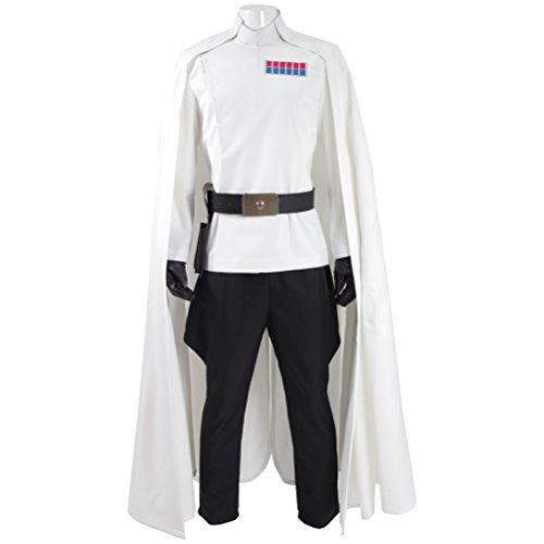 Fancycosplay Mens Battle Uniform White Cloak Full Set Cosplay Costume (Ups Uniform Costumes)