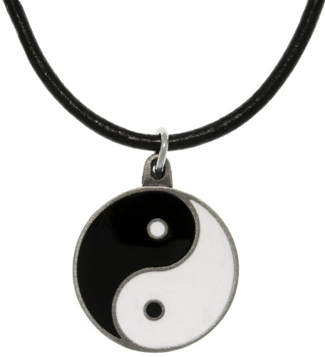 Jewelry Trends Yin Yang Pewter Pendant Necklace 18