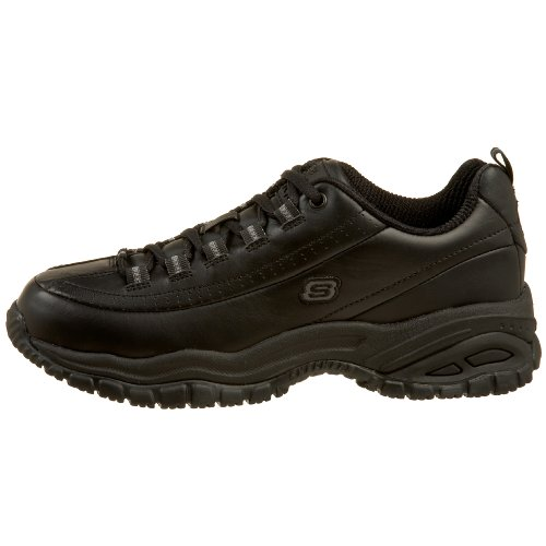 Skechers for Work Women's Soft Stride-Softie Lace-Up, Black, 8.5 D - Wide