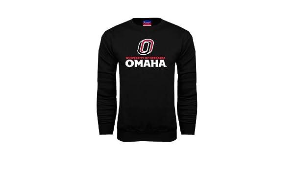 Nebraska Omaha Grey Fleece Crew University of Omaha w//O