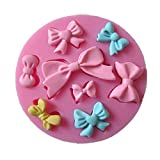 8 Mini Bows cooking tools christmas wedding decoration Silicone Mould Fondant Sugar Bow Craft Molds DIY Cake Decorating