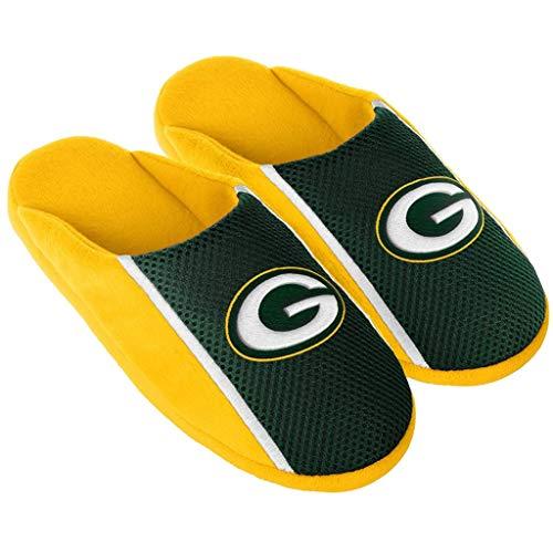 (Green Bay Packers NFL Mens Jersey Slide Slipper Adult Sizes (M))