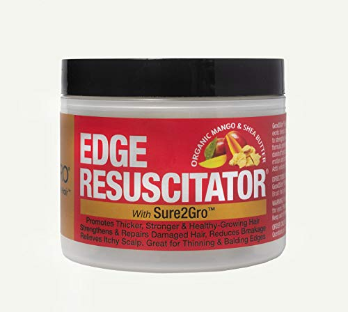 GOOD2GRO EDGE RESUSCITATOR - HAIR GROWTH STIMULATING POMADE - INFUSED with MANGO and SHEA BUTTER - PROMOTES LONGER, STRONGER and THICKER GROWING HAIR WITHIN 4-6 WEEKS - FOR WOMEN and MEN - 4 oz.