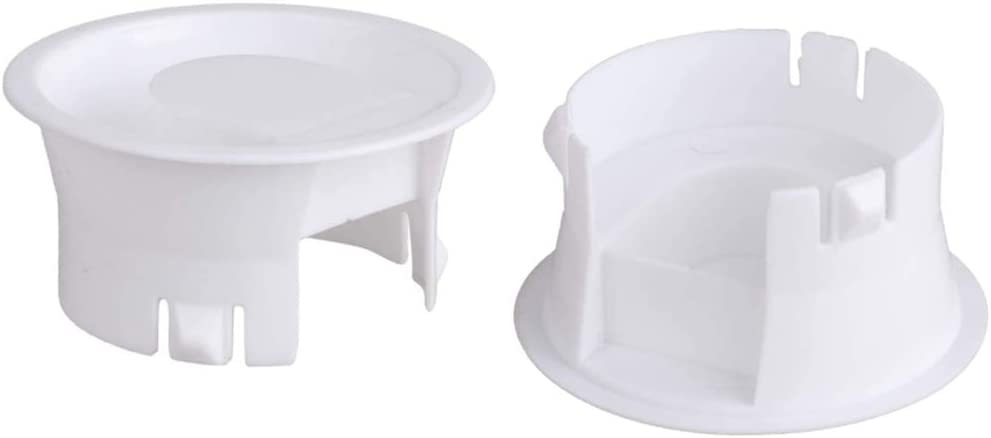 Glass Water Pitcher Lids Food Grade Plastic Anti-Dust Splash Resistant Stoppers Covers for Water Jug Glass Bistro Pitcher 2 pieces(White)