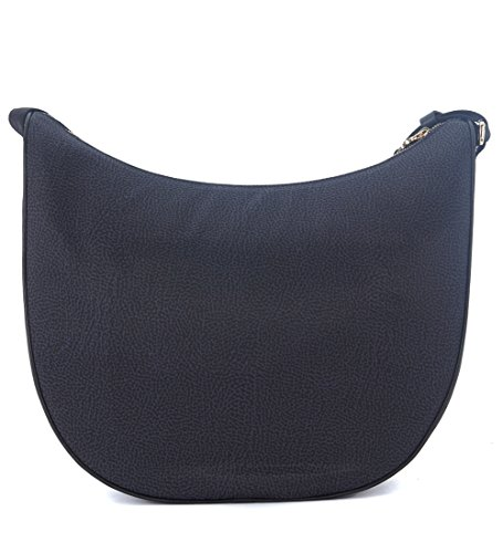 Borsa a tracolla Borbonese Luna Bag Medium in nylon OP nero
