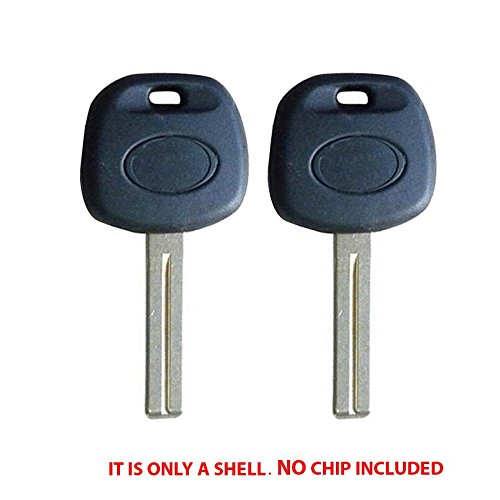 (Uncut Non Chip Transponder Blank Key Case Shell for Lexus -Short Blade (2 Pack))