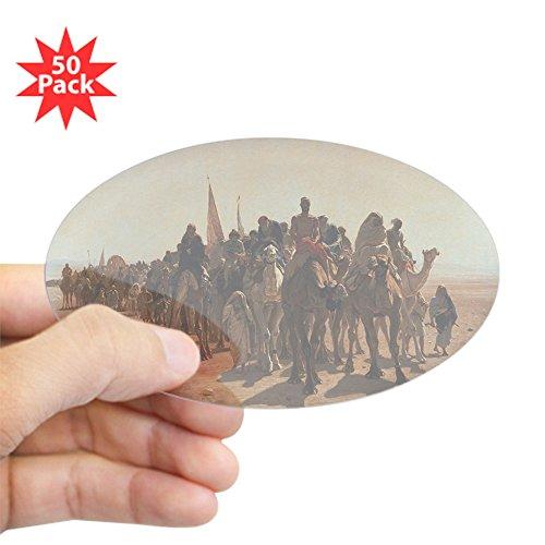 CafePress - 61 @Oil On Canvasa - Sticker @Oval 50 PKA - Sticker (Oval 50 pk)