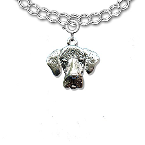 Sterling Silver Great Dane Charm with Natural Ears