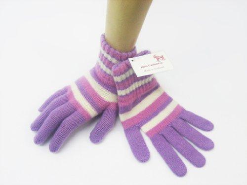 オックスフォード純粋なカシミアレディースカシミアストライプ手袋
