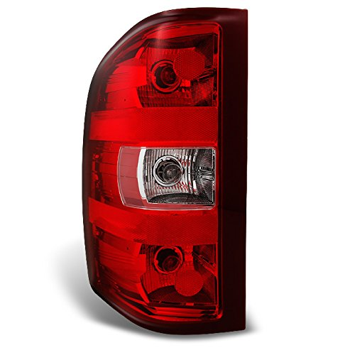 Chevy Silverado Pickup Truck Red Clear Tail Light Tail Lamp Brake Lamp Driver Left Side Replacement