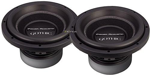 New Pair Power Acoustik GW3-10 10' 2200W Car Audio Subwoofers 2 Ohm DVC Bass Sub