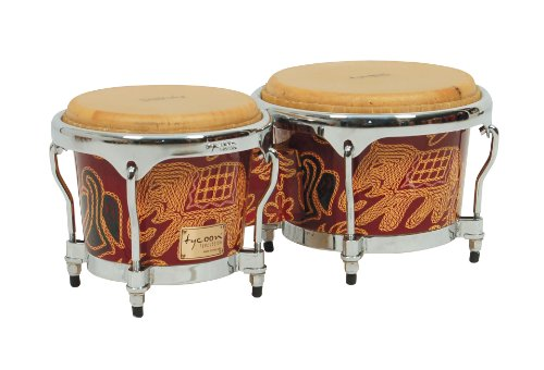 Tycoon Percussion 7 Inch & 8 1/2 Inch Master Fantasy Siam Series Bongos by Tycoon Percussion