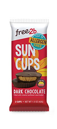 Sun Cups Dark Chocolate Sun Cups, 1.5 Ounce (Pack of 12) Chocolate Fat Free Candy