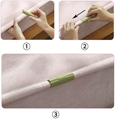 10 Pieces,White Kasom Bed Sheet Grippers Fasteners Keep Sheets Snug