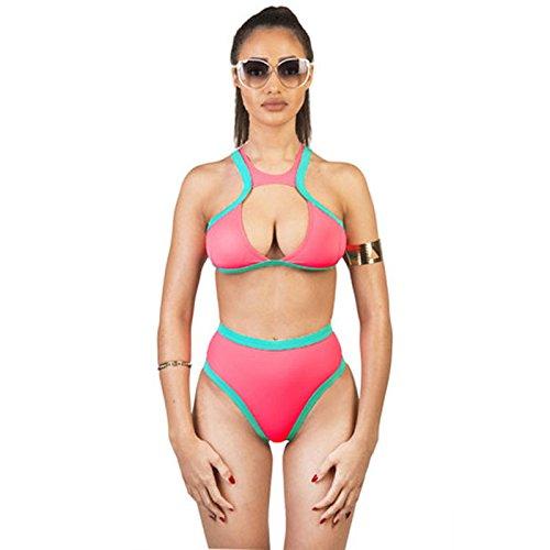 X&L Strand, lässig, sexy, zweiteiligen Badeanzug, frisch, und sammelten hohe Taille Bikinis, Split, Bademode