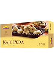 Nanak Kaju Peda (Cashew Sweet) 312g 15pcs Indian Delicacy Sweets Gift Box for Diwali, Eid, Navratri, Holi, Rakhi