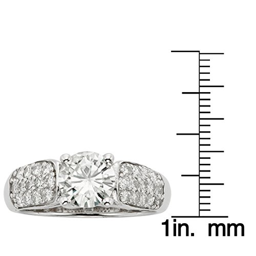 Forever Brilliant White Gold Round 7.0mm Moissanite Ring - size 6, 1.72cttw DEW By Charles & Colvard by Charles & Colvard (Image #1)