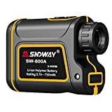 SNDWAY Golf Rangefinder 656 Yards Distance 7X Measurement Range Finder with Flagpole Locking Range Speed Scanning Model IP54 Waterproof for Golf and Hunting with Speed Scan