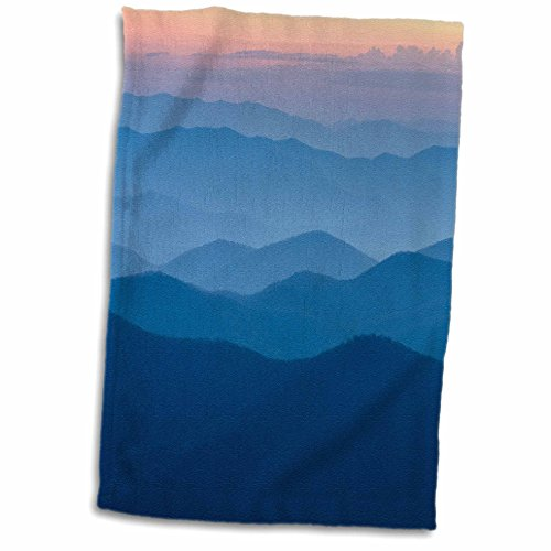 3D Rose North Carolina-Great Smoky Mountains-Dusk from Blue Ridge Parkway Hand Towel, 15