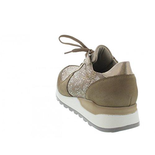 de Ville Waldläufer Chaussures pour LightGold Femme Taupe à Beige Lacets 5SgqqnWwE
