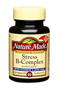 Nature Made Stress B-Complex with Vitamin C and Zinc, 60 Tablets (Pack of 3)