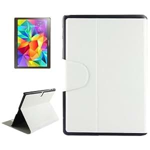 Oracle Texture Horizontal Flip Leather funda case cover + Lápiz GRATIS con Holder & bolsillos internos para Samsung Galaxy Tab S 10.5/T800(White)