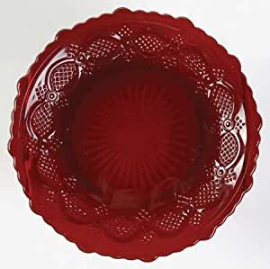 Amazon Com Avon Cape Cod Collection 1876 Ruby Red Pattern Set 2 Dessert Plates Red