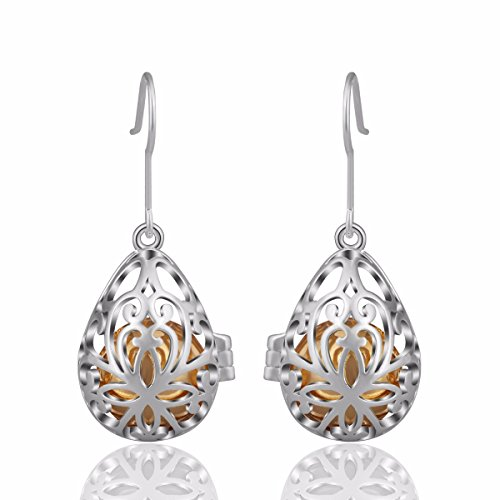 EUDORA Musical Earrings Special Eardrop Angel Caller Earbob (12mm Inside Ball) Silver Plated